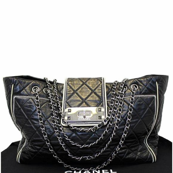 7e34a551d5fa CHANEL Bags | East West Large Lambskin Leather Tote Bag | Poshmark
